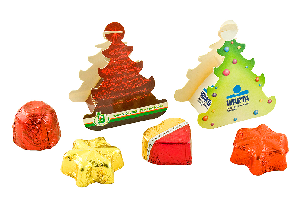 Chocolate in Christmas Tree Boxes