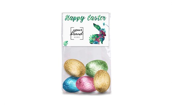 5 Easter Eggs in bag