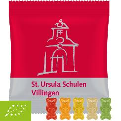 Organic gummy bears with gelatine, ca. 10g, mini bag