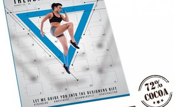 Promotional Calories Choco Calendar