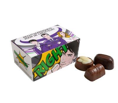 Box with Belgium chocolates