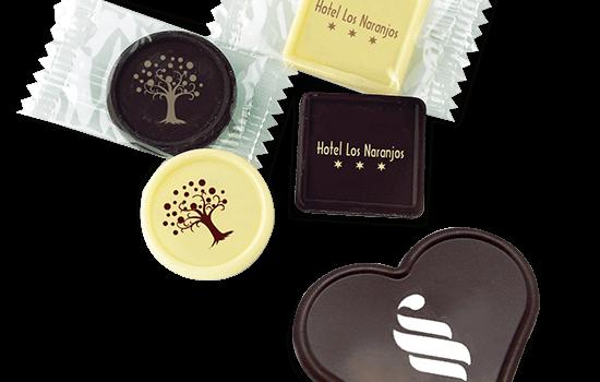 Individual printed chocolate