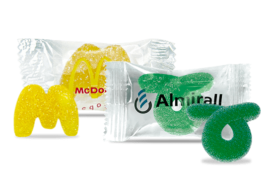 Maxi 2D gummy candy in flowpack
