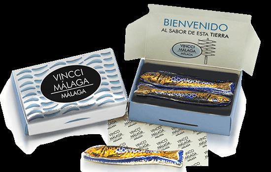 Box of chocolate sardines