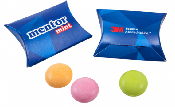 Mentos Drops in Pillow Box