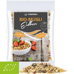 Organic muesli strawberry, ca. 60g, maxi bag