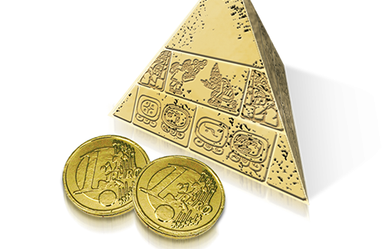 Promotional Pyramid with choco coins