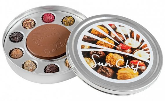 10 Decorated truffles +a chocolate medal 150 g