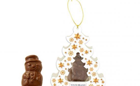 Chocolate Snowman in Christmas Box