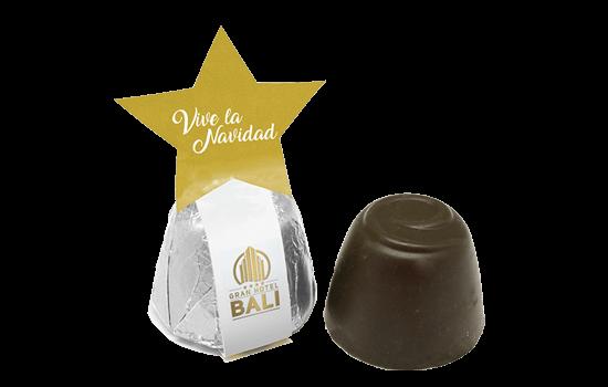 Chocolate with Christmas message