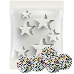 Chrismas coloured chocolate coins