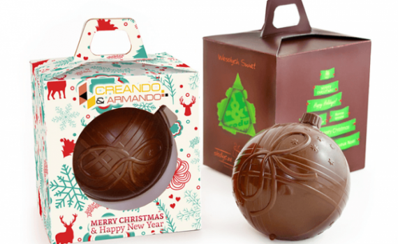 Christmas Bauble in Box with Grip