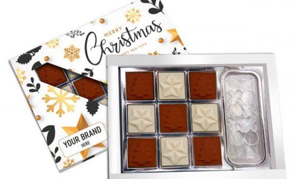 Christmas Tic Tac Toe Chocolate Box