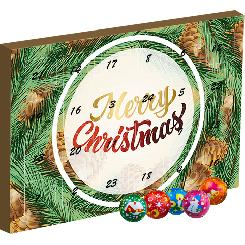 Christmas advent calendar with chocolate balls 135g