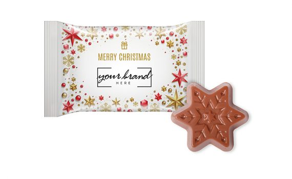 Christmas chocolate star flow pack