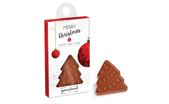 Christmas tree hanger with choco