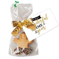 Happy man cookie 11g, flat bag with promotional flyer