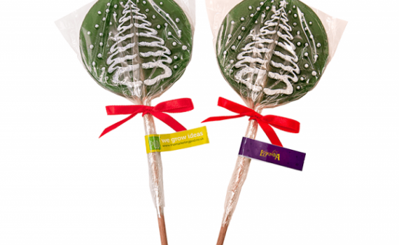 Lollipop with Christmas Tree