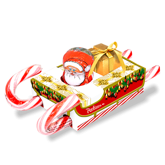 Promotion box with sled shape