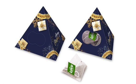 Pyramid with 10 tea bags