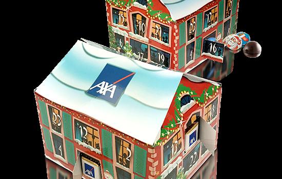 Advent calendar home shape