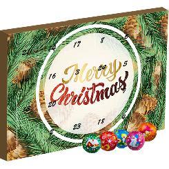 Chocolate Christmas balls, ca. 135g, advent calendar maxi