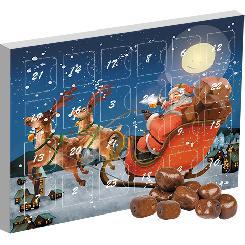 Chocolate coconut bites, ca. 80g, advent calendar mini