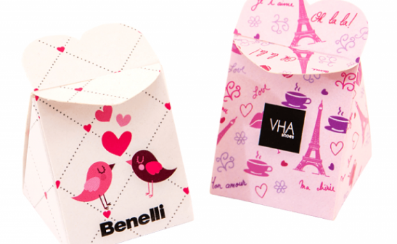 Chocolates in Heart Boxes