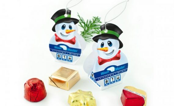Chocolates in Snowman Boxes