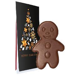 Christmas chocolate cinnamon man, ca. 10g