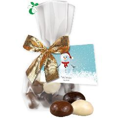 Christmas cookies, ca. 35g, compostable flat bag with promo flyer