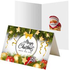 Mini Santa Claus on promotional card, ca. 5g