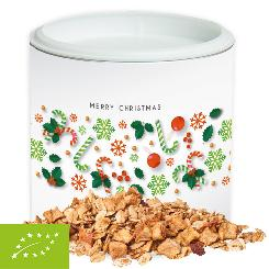 Organic crunchy Christmas muesli apple-cinammon, ca. 60g, Small cardboard box