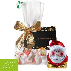Organic mini Santa Claus, ca. 40g, midi pouch