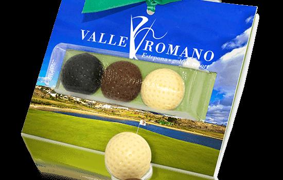 Promotional 3 chocolate golf balls