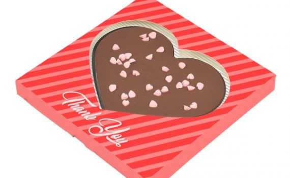 Promotional chocolate in shape heart