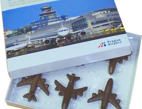 Set of chocolate airplanes 90g