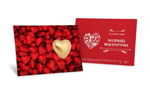 Sweet leaflet with choco heart