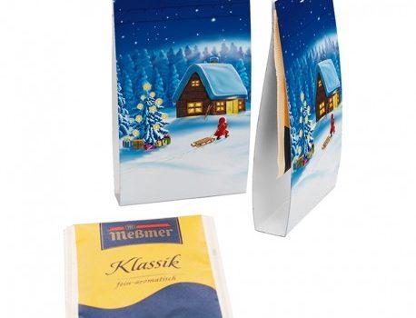 Tea bag in a printed cardboard tab