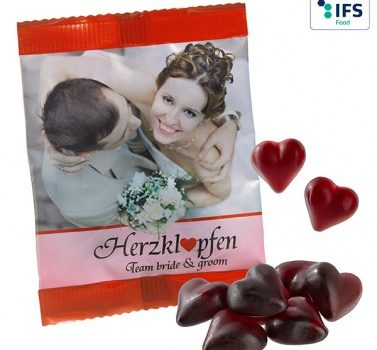 Cassis Fruit Juice Gum Hearts
