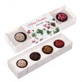 Christmas 4 chocolate truffles in box