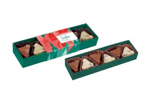 Christmas Chocolates with cramberries and hazelnuts 6 pcs