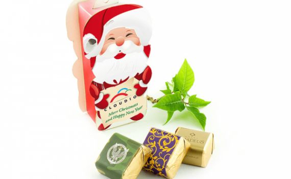 Small Santa with First-Class Chocolates