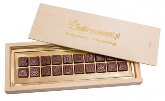 Chocolate Message L20 in Wooden Box
