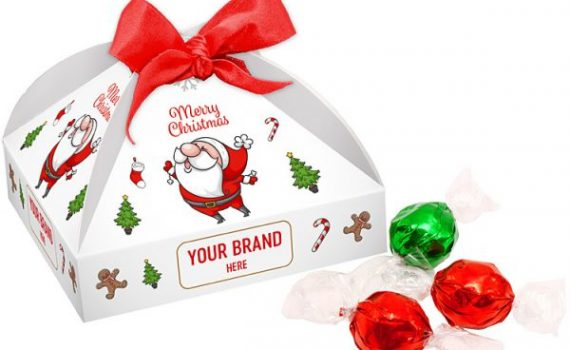 Christmas box with Pralines