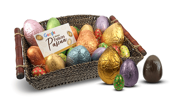 Easter Basket with chocolate eggs