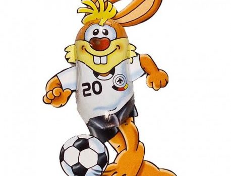 Easter Chocolate Soccer Bunny