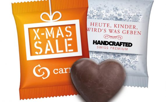 Gingerbread Heart in Advertising Bag