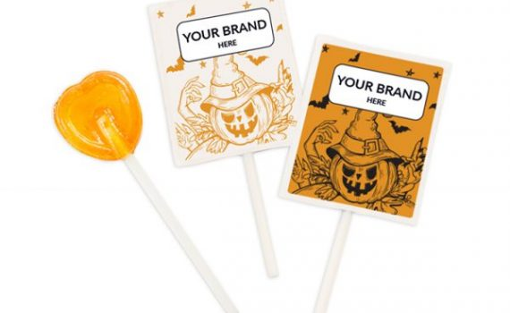 Halloween Lollipops in Paper Bags