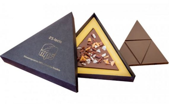Large triangular chocolates